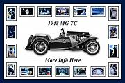 Old Car Art Posters - 1948 Mg Tc Poster by Jill Reger