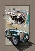 Vintage Digital Art Metal Prints - 1948 Mg Tc Metal Print by Roger Beltz