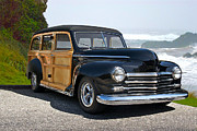Woody Wagon Photos - 1948 Plymouth Special Deluxe Woody Wagon by Dave Koontz