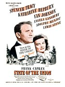 Lansbury Framed Prints - 1948 - State of the Union Motion Picture Poster - Spencer Tracy - Katherine Hepburn - MGM - Color Framed Print by John Madison