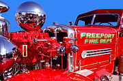 Freeport Prints - 1949 Ahrens Fox Piston Pumper Fire Truck Print by Jim Carrell