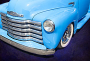 Old Chevrolet Truck Framed Prints - 1949 Blue Chevrolet Truck Framed Print by Susan Candelario