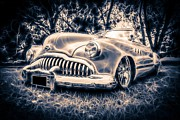 Phil Motography Clark Framed Prints - 1949 Buick Eight Super Framed Print by motography aka Phil Clark