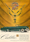 Rally Digital Art Posters - 1949 Cadillac Advert Poster by Nomad Art And  Design
