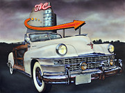 Classic Car Paintings - 1949 Chrysler Town and Country Convertible by Bill Yurcich