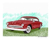 Steering Painting Posters - 1949 Ford Custom FORDILLAC Poster by Jack Pumphrey