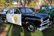 Police Car Prints - 1949 Ford Police Car 5D26224 Print by Wingsdomain Art and Photography