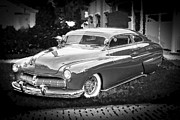 White Walls Framed Prints - 1949 Mercury Club Coupe BW Framed Print by Rich Franco