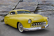 1949 Merc Prints - 1949 Mercury Coupe Print by Debra and Dave Vanderlaan