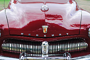 Classic Cars Posters - 1949 Mercury Coupe Grille - Hood Ornament - Emblems Poster by Jill Reger