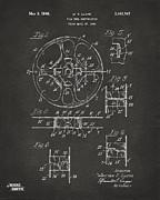1949 Movie Film Reel Patent Artwork - Gray Print by Nikki Marie Smith