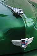 Automobile Abstract Photography Prints - 1949 Studebaker Champion Hood Ornament Print by Jill Reger
