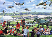 Flying Digital Art - 1950 Airshow by MGL Meiklejohn Graphics Licensing