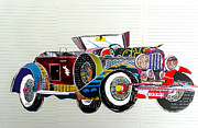 Old Cars Mixed Media - 1950 by Brian Buckley