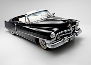 Car Posters Posters - 1950 Cadillac Convertible Poster by Sanely Great