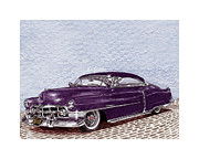 Lead Drawings Prints - 1950 Cadillac Coupe de Ville Print by Jack Pumphrey