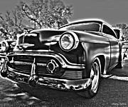 Vintage Automobiles Art - 1950 Chevrolet Deluxe Styleline Bel Air by Cheryl Young