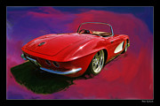 Blake Richards Framed Prints - 1950 Chevy Corvette Framed Print by Blake Richards