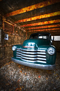 Barns Posters - 1950 Chevy Truck Poster by Debra and Dave Vanderlaan
