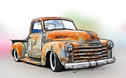 Model A Sedan Prints - 1950 Chevy Truck Print by Steve McKinzie
