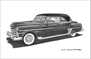 Wash Drawings Framed Prints - 1950 Chrysler Newport Framed Print by Jack Pumphrey