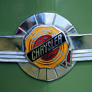 Windsor Prints - 1950 Chrysler Windsor Emblem Print by Jill Reger