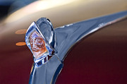 Sedan Prints - 1950 Desoto Custom Sedan Hood Ornament Print by Jill Reger