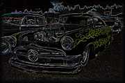 Rat Rod Photos - 1950 Ford Coupe Neon Glow by Steve McKinzie