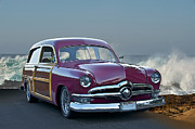 Custom Ford Metal Prints - 1950 Ford Surn Wagon II Metal Print by Dave Koontz