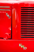 Truck Photos - 1950 Four Wheel Drive Pumper Fire Truck Emblems by Jill Reger