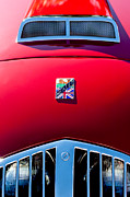 Car Mascots Prints - 1950 Healey Silverston Sports Roadster Emblem Print by Jill Reger