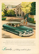 Old Auto Posters - 1950 Lincoln Cosmopolitan Poster by Nomad Art And  Design