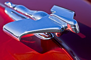 Car Detail Prints - 1950 Nash Hood Ornament Print by Jill Reger