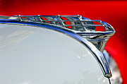 Hoodies Metal Prints - 1950 Plymouth Hood Ornament 3 Metal Print by Jill Reger
