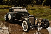 Chevy Pickup Photo Prints - 1950s Chevy Pickup Rat Rod Print by Tim McCullough