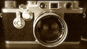 Rangefinder Framed Prints - 1950s Classic Leica F3 Framed Print by John Colley