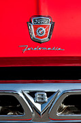 100 Framed Prints - 1950s Ford F-100 Pickup Truck Grille Emblems Framed Print by Jill Reger