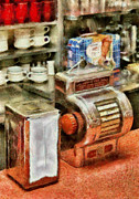 Jukebox Prints - 1950s - The Greasy Spoon Print by Mike Savad