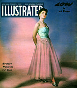 Dresses Drawings - 1950s Uk Illustrated Magazine Cover by The Advertising Archives
