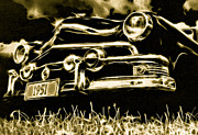 Ford Custom V8 Posters - 1951 Ford V8 Convertible Poster by Phil