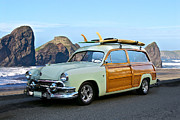 Custom Ford Metal Prints - 1951 Ford Woody Wagon Metal Print by Dave Koontz