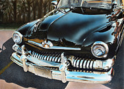 Classic Car Paintings - 1951 Mercury by Bill Yurcich