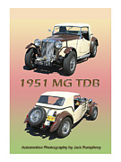 Original Watercolor Photos - 1951 Mg T D B by Jack Pumphrey