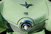 Grill Photo Posters - 1951 Studebaker Commander Hood Ornament 2 Poster by Jill Reger