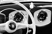 1951 Framed Prints - 1951 Volkswagen VW Beetle Cabriolet Steering Wheel Emblem Framed Print by Jill Reger