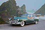 Family Car Posters - 1952 Buick Woody Estate Wagon Poster by Dave Koontz