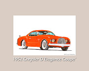 Chryslers Framed Prints - 1952 Chrysler DElegance Concept Framed Print by Jack Pumphrey