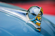 Car Photography Posters - 1952 Desoto Hood Ornament Poster by Jill Reger