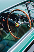 Wheel Posters - 1952 Ferrari 212 Inter Vignale Coupe Steering Wheel Emblem Poster by Jill Reger