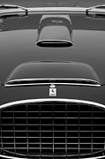 Black And White Photos Photos - 1952 Ferrari 342-375 America Pinin Farina Cabriolet Grille by Jill Reger
